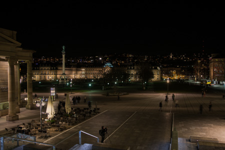 schlossplatz by night